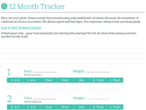 Core 12 Month Tracker