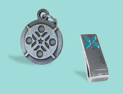 Silver Director Charm