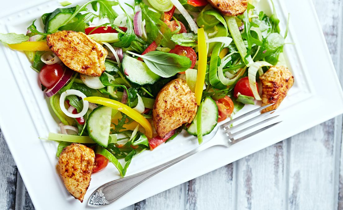 Low carb chicken salad that is easy to make.