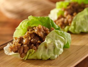 Yummy keto friendly turkey taco lettuce wrap.