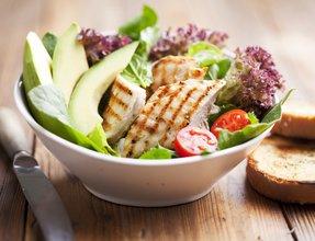 Easy to make keto friendly avocado chicken salad.