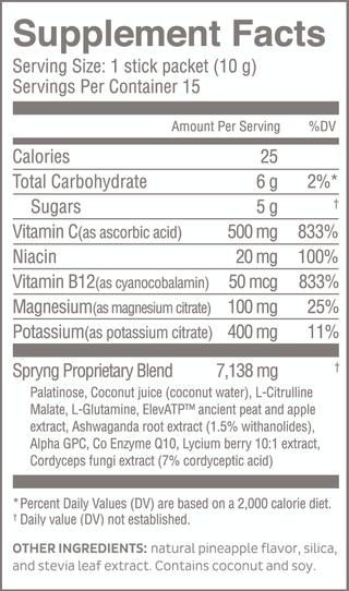 Spryng TF nutrition